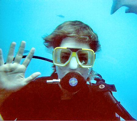 Me SCUBA diving at the Great Barrier Reef.