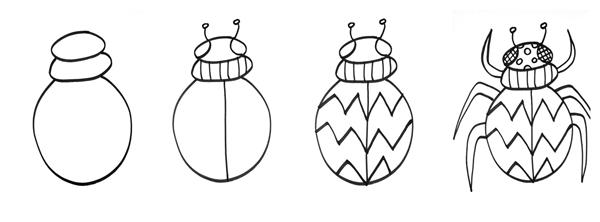 Use shapes and patterns to create your insect!