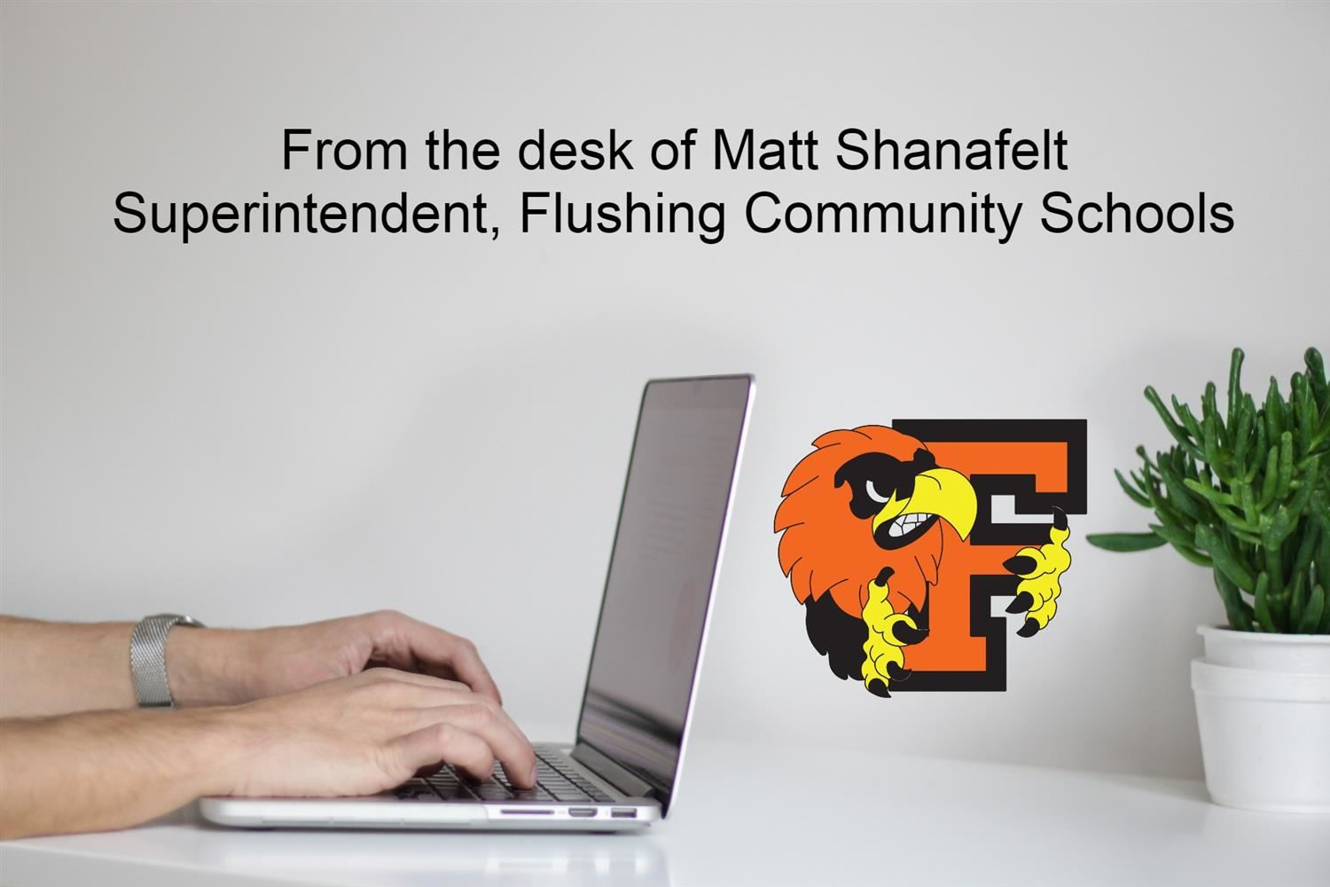 person typing on computer, from the desk of Matt Shanafelt